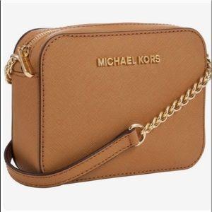 NEW Michael Kors Brown Acorn Small Crossbody Bag